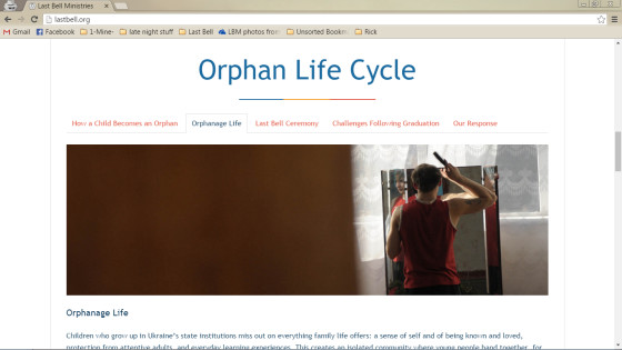 Orphan Life Cycle on the home page